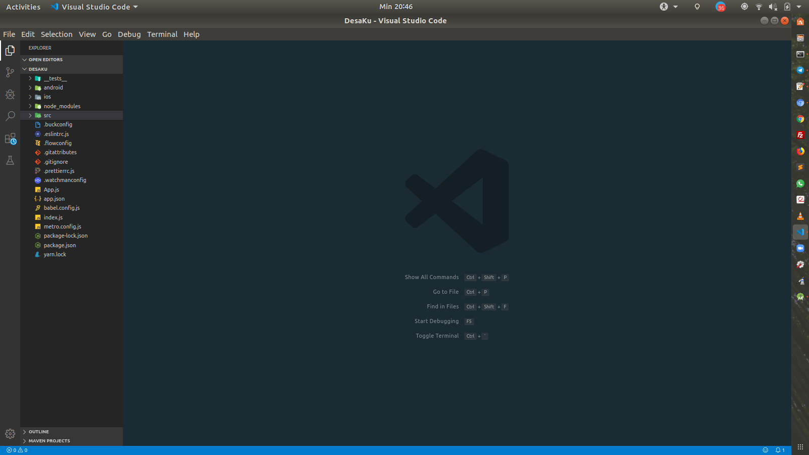 Buka Project Dengan Visual Studio Code