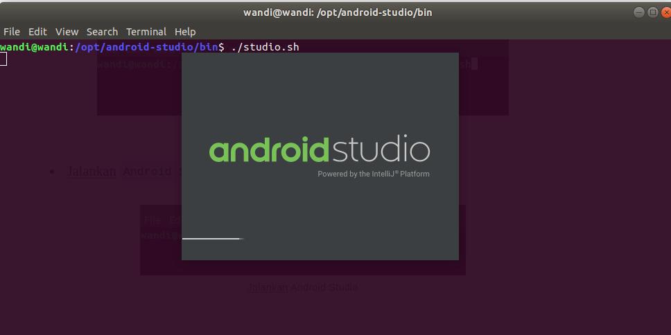 Tampilan Android Studio